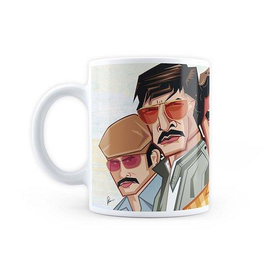 Narcos Tribute Art Mug by Graphicurry -Graphicurry - India - www.superherotoystore.com