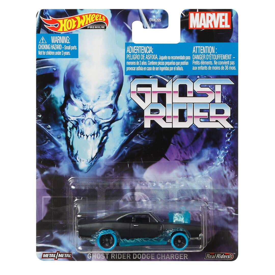 Ghost Rider Dodge Charger 1:64 Scale Die-Cast Car by Hot Wheels -Hot Wheels - India - www.superherotoystore.com