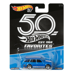 50 Anniversary Fovourites Collection 71 Datsun Bluebird 510 Wagon Die-Cast Car by Hot Wheels