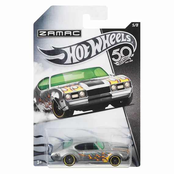 50 Anniversary ZAMAC Edition 68 Olds 442 Die Cast Car by Hot Wheels