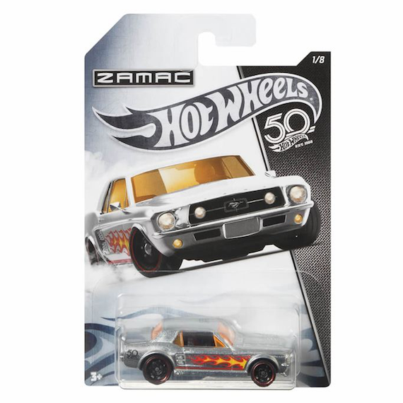 50 Anniversary ZAMAC Edition 67 Ford Mustang Coupe Die Cast Car by Hot Wheels
