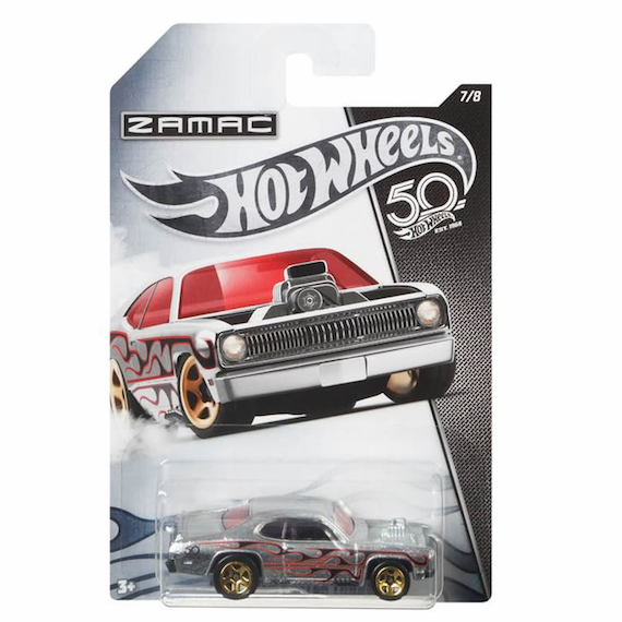 50 Anniversary ZAMAC Edition Plymouth Duster Thruster Die Cast Car by Hot Wheels