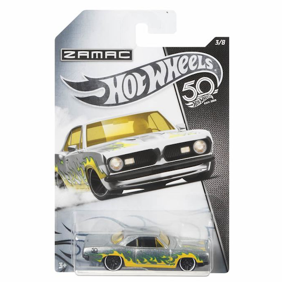 50 Anniversary ZAMAC Edition 68 Plymouth Barracuda Formula S Die Cast Car by Hot Wheels