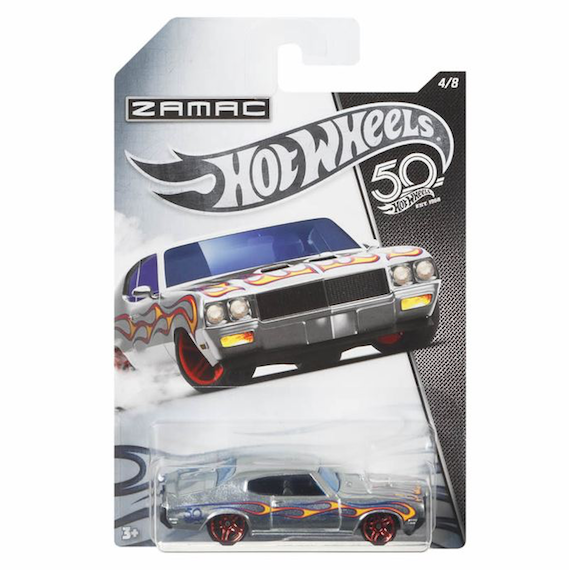 50 Anniversary ZAMAC Edition 70 Buick GSX Die Cast Car by Hot Wheels