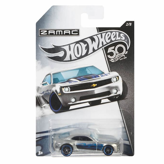 50 Anniversary ZAMAC Edition Chevy Camaro Concept Die Cast Car by Hot Wheels