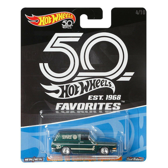 50 Anniversary Fovourites Collection Custom 69 Volkswagen Sqareback Die-Cast Car by Hot Wheels