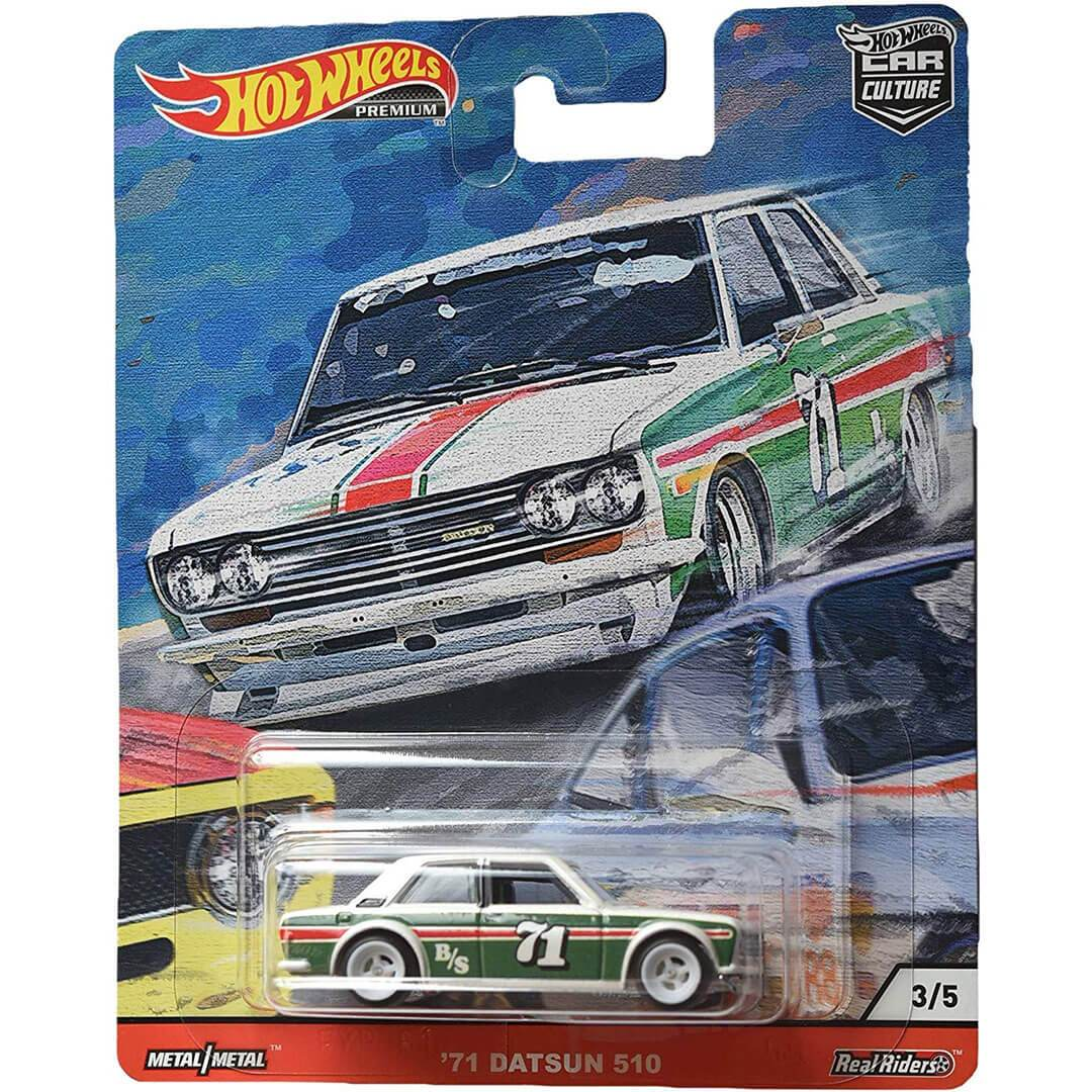 Car Culture 1971 Datsun 510 1:64 Scale Die-Cast Car by Hot Wheels -Hot Wheels - India - www.superherotoystore.com