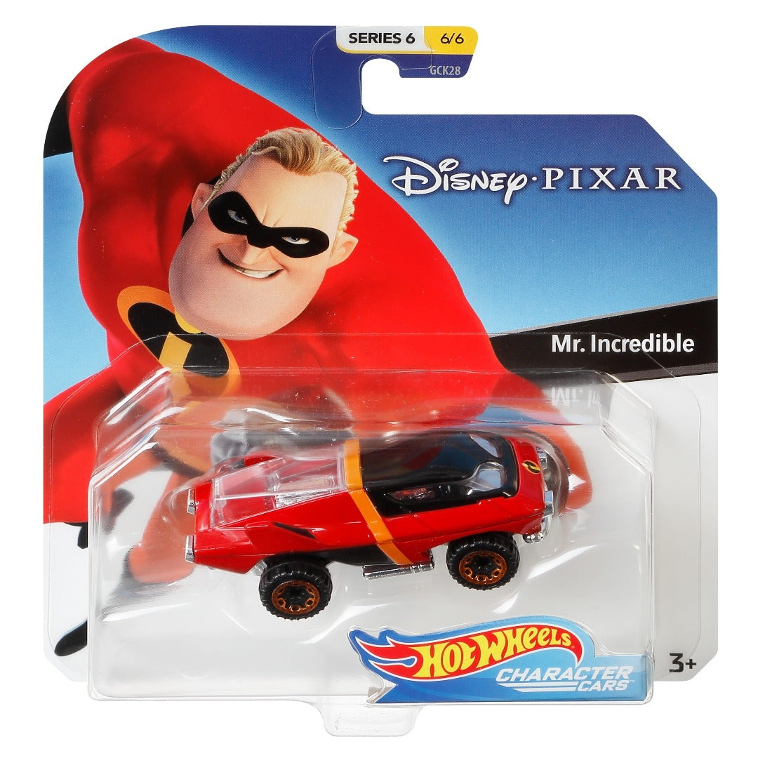 Disney Character Car - Mr Incredible 1:64 Scale Die-Cast Car by Hot Wheels -Hot Wheels - India - www.superherotoystore.com
