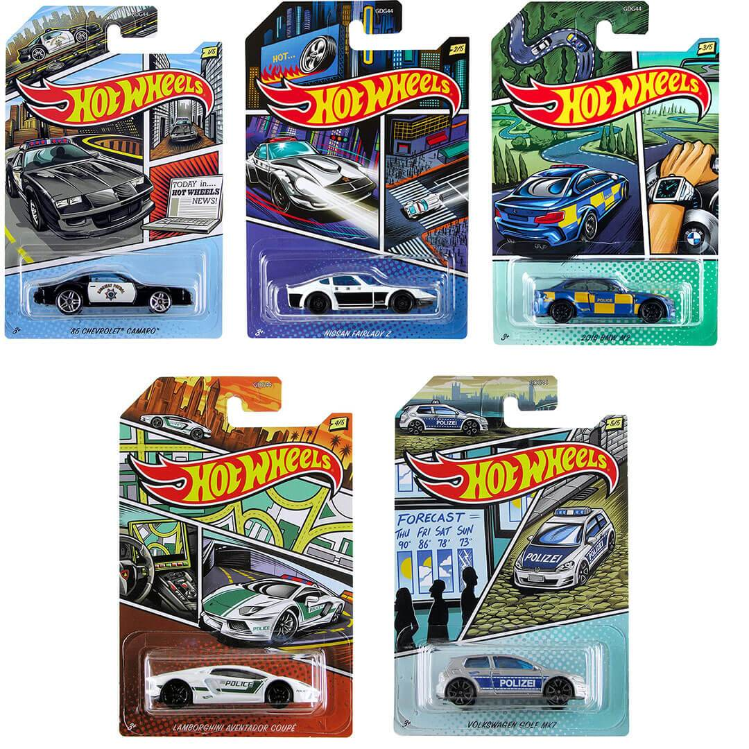 2020 Police Series 1:64 Scale Die-Cast Car Set by Hot Wheels -Hot Wheels - India - www.superherotoystore.com