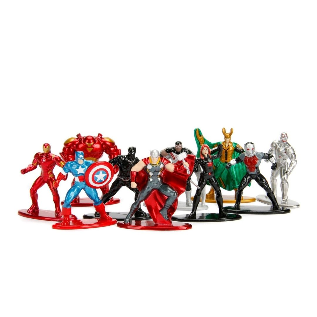 Marvel Comics 1.65-Inch 10 Pack Nano Metal Figure Set by Jada Toys -Jada Toys - India - www.superherotoystore.com