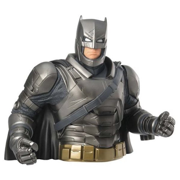 Batman Vs Superman: Dawn of Justice Armored Batman Bust Bank by Monogram-Monogram International- www.superherotoystore.com-Bust Bank