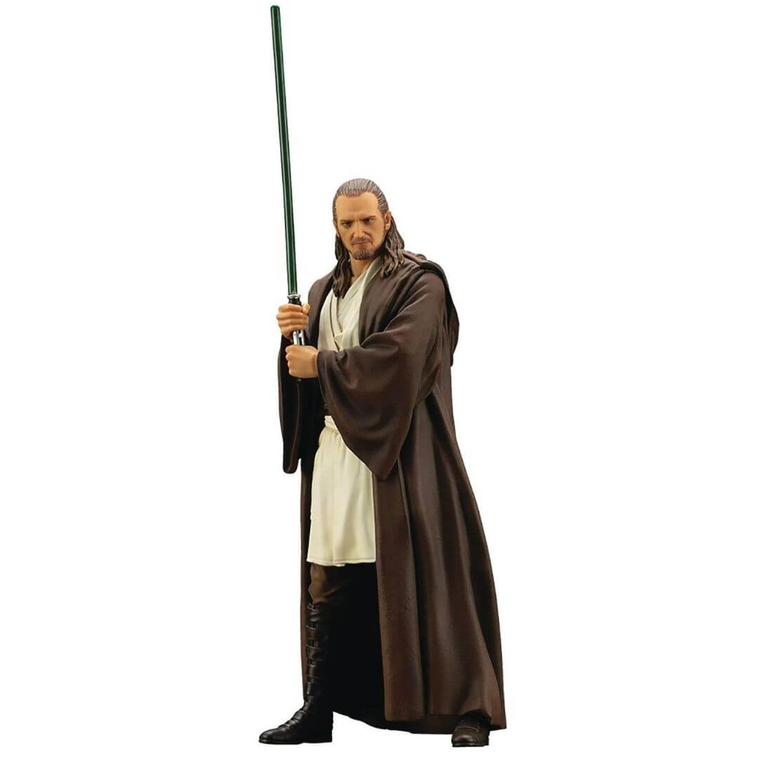 Star Wars The Phantom of Menace Qui Gon Jinn ArtFx Statue by Kotobukiya -Kotobukiya - India - www.superherotoystore.com