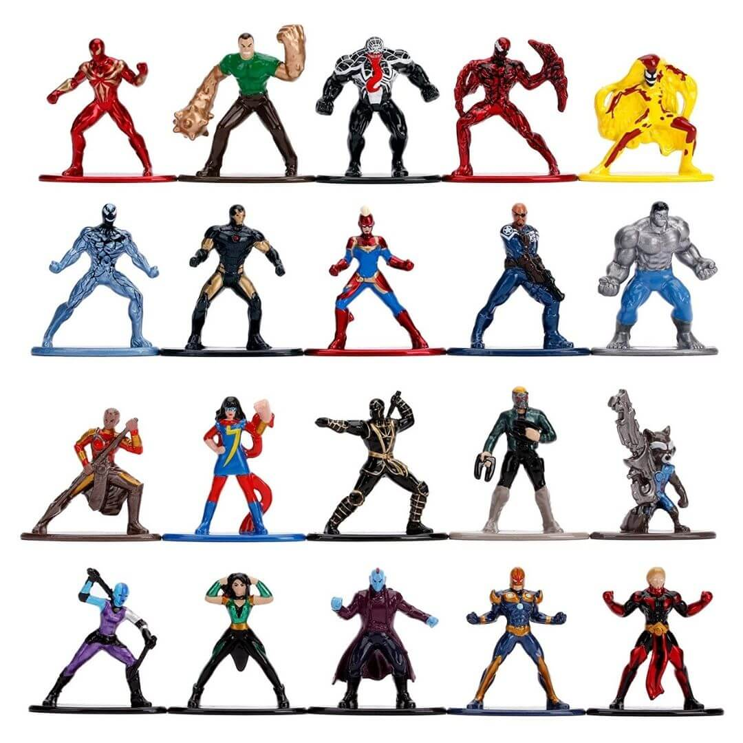 Marvel Comics 1.65-Inch 20 Pack Nano Metal Figure Set by Jada Toys -Jada Toys - India - www.superherotoystore.com