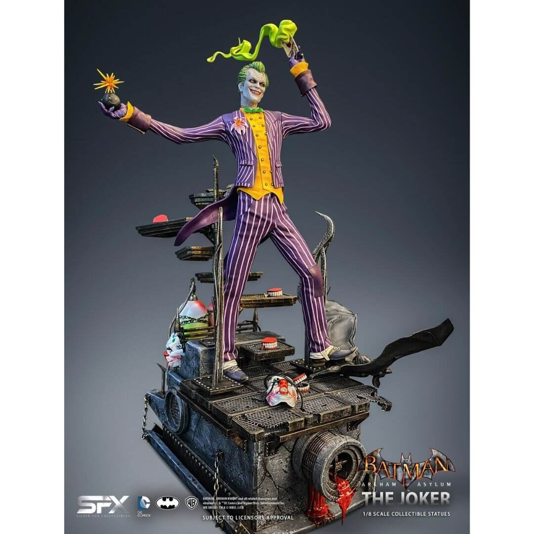 Batman Arkham Asylum Joker 1/8th Scale Statue by SilverFox Collectibles -SilverFox - India - www.superherotoystore.com