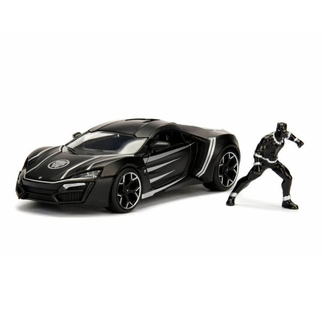 Hollywood Rides 1:24 Scale 2017 Lykan Hypersport With Black Panther Figure by Jada Toys -Jada Toys - India - www.superherotoystore.com