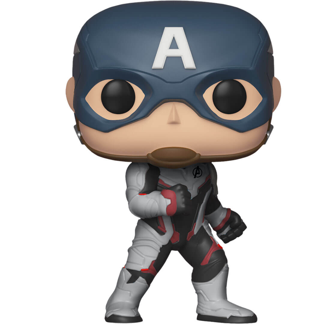 Avengers Endgame Captain America (Team Suit) Vinyl Bobble-Head by Funko -Funko - India - www.superherotoystore.com