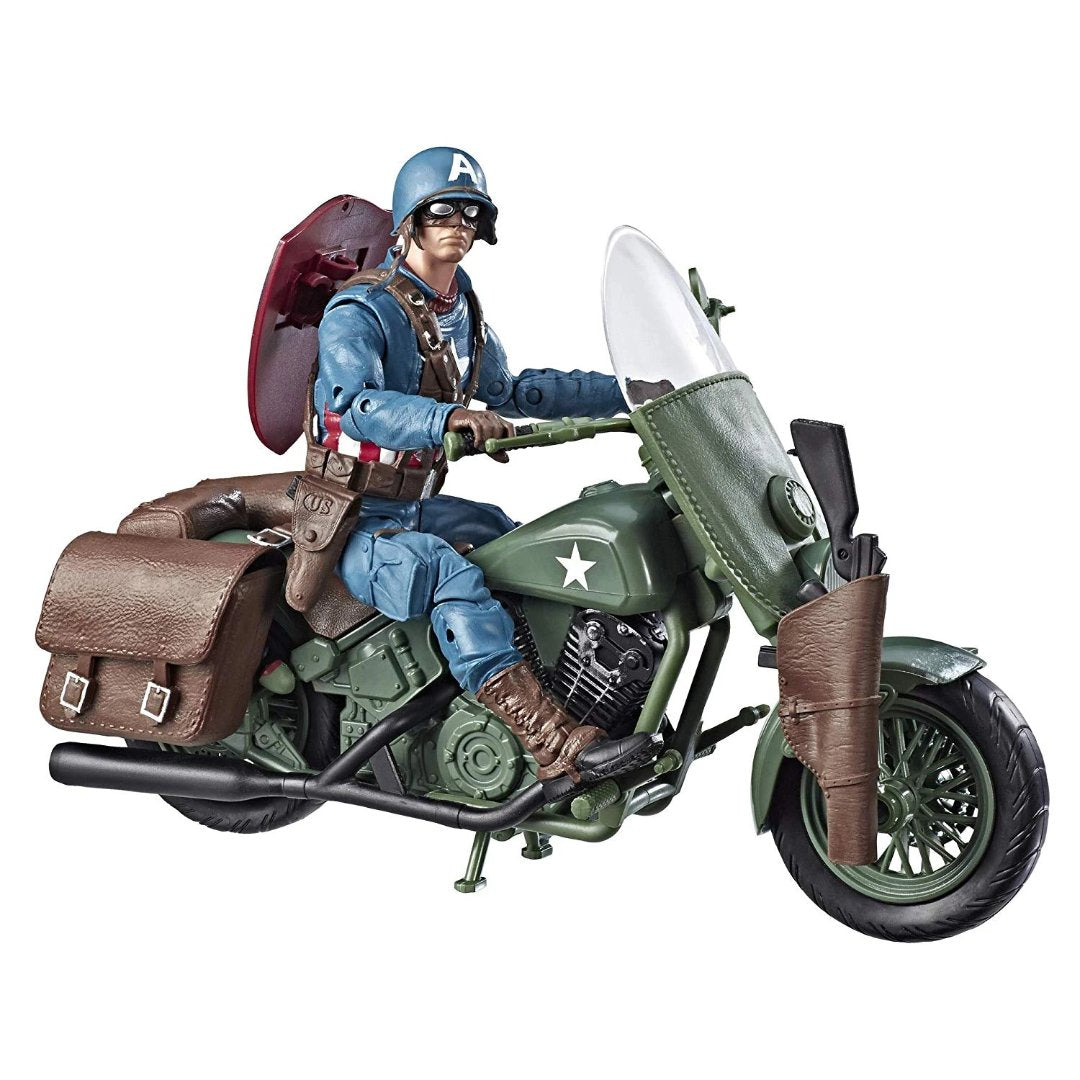 Marvel 80th Anniversary Captain America with Bike Marvel Legends Figure by Hasbro