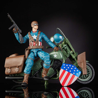 Marvel 80th Anniversary Captain America with Bike Marvel Legends Figure by Hasbro -Hasbro - India - www.superherotoystore.com