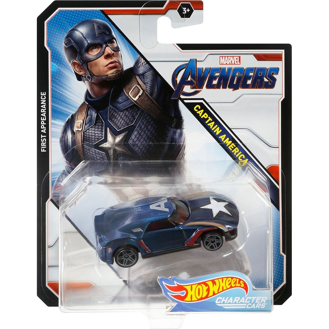 Avengers Captain America 1:64 Scale Die-Cast Car by Hot Wheels