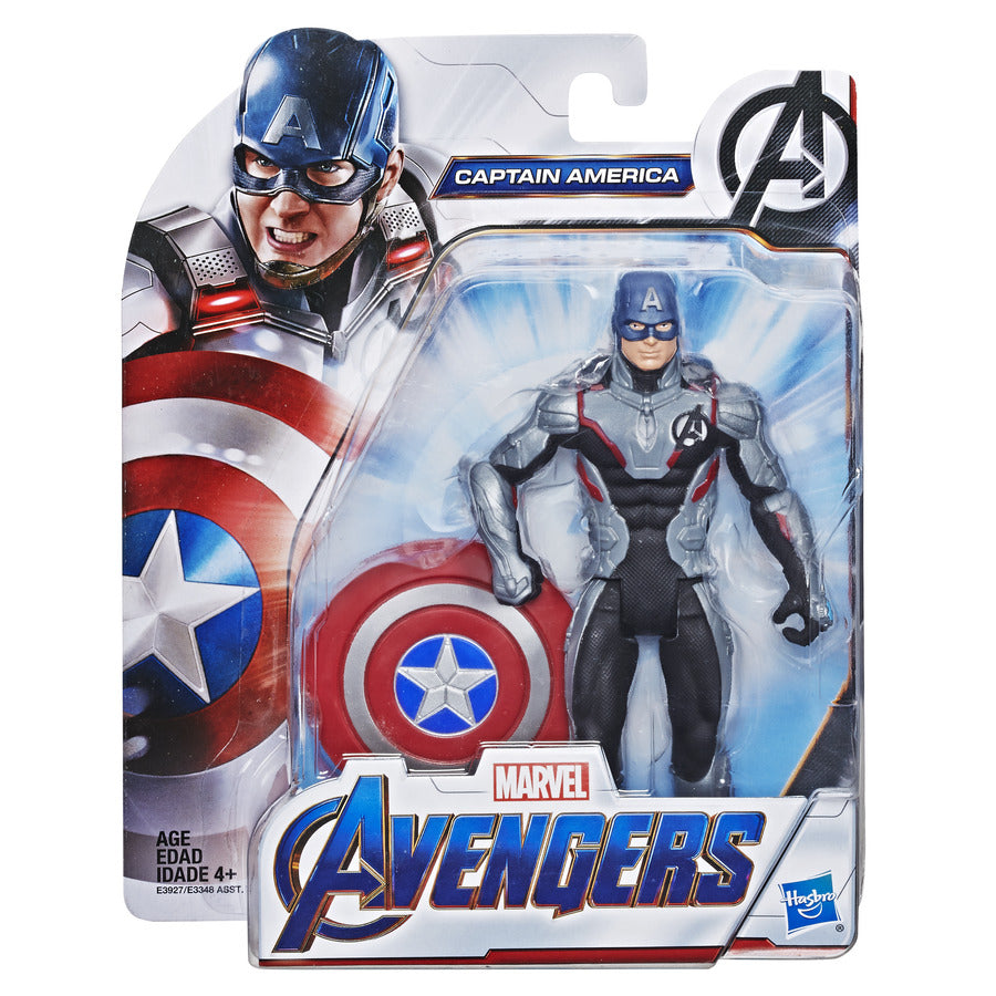 Avengers Endgame 6-inch Suit Up Captain America Figure by Hasbro