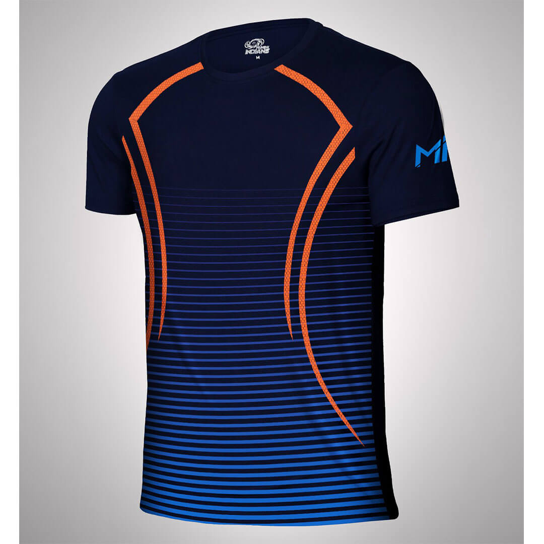 Mumbai Indians Dry Fit Ombre Print T-Shirt -The Arena - India - www.superherotoystore.com