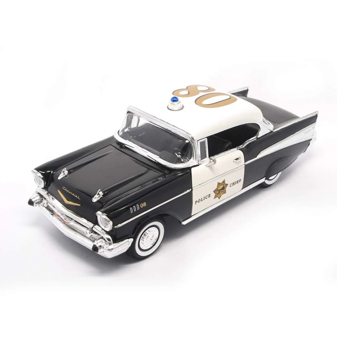 1957 Chevrolet Bel Air Police Version 1:18 Scale Die-Cast Car by Lucky Die Cast