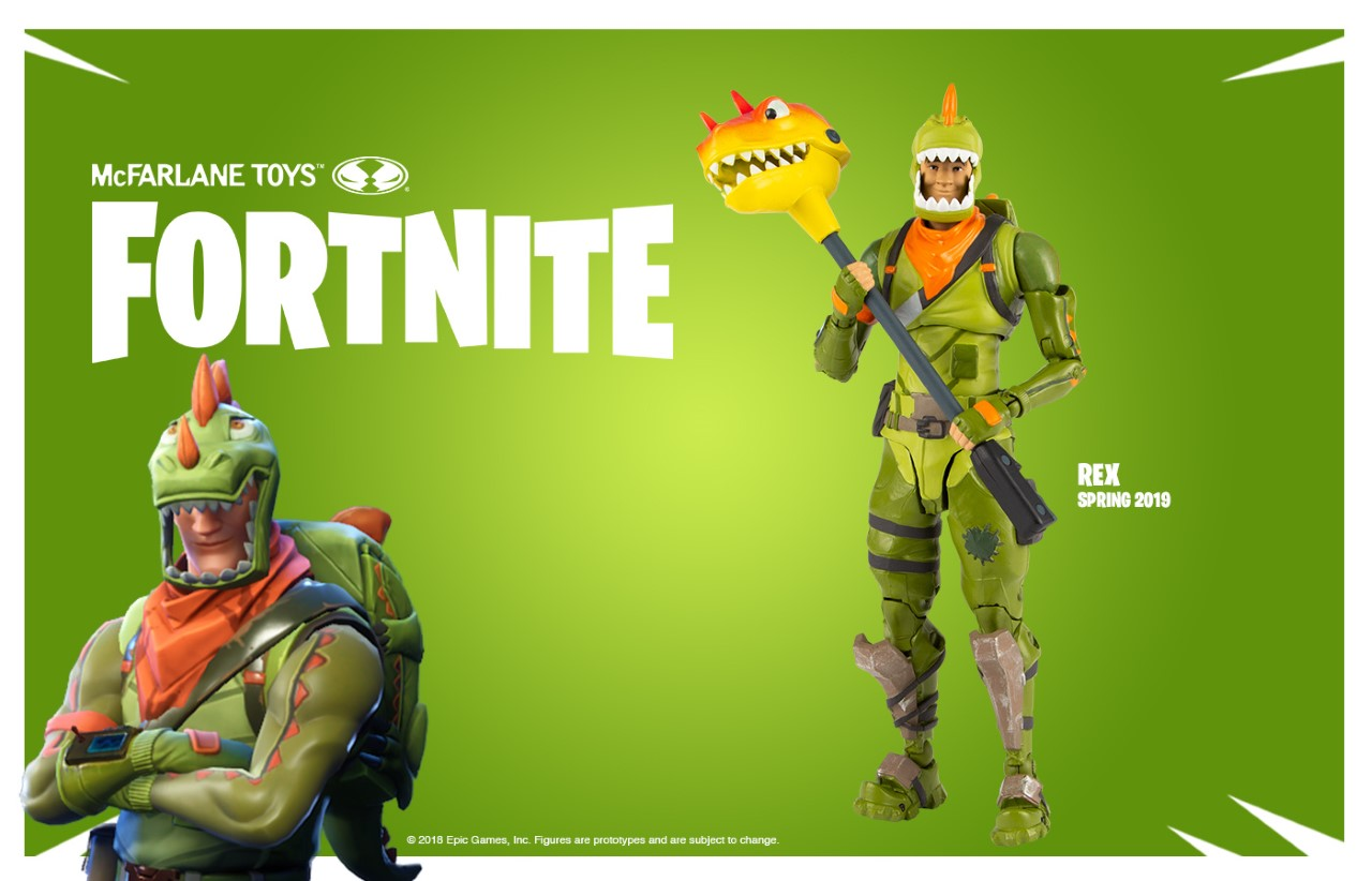 Fortnite Rex Action Figure McFarlane Toys IN STOCK