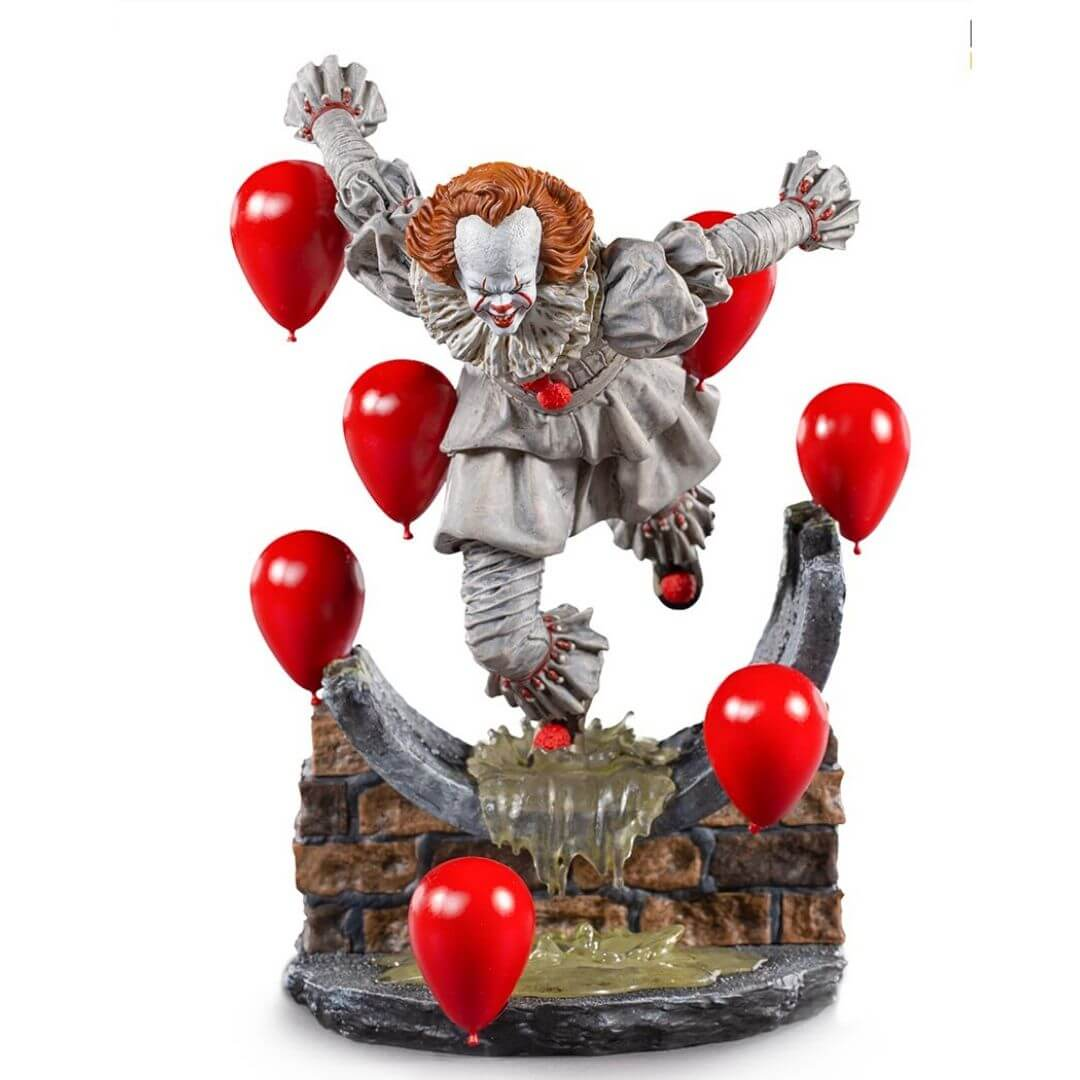 Pennywise Deluxe Art Scale 1/10 – IT Chapter Two by Iron Studios -Iron Studios - India - www.superherotoystore.com