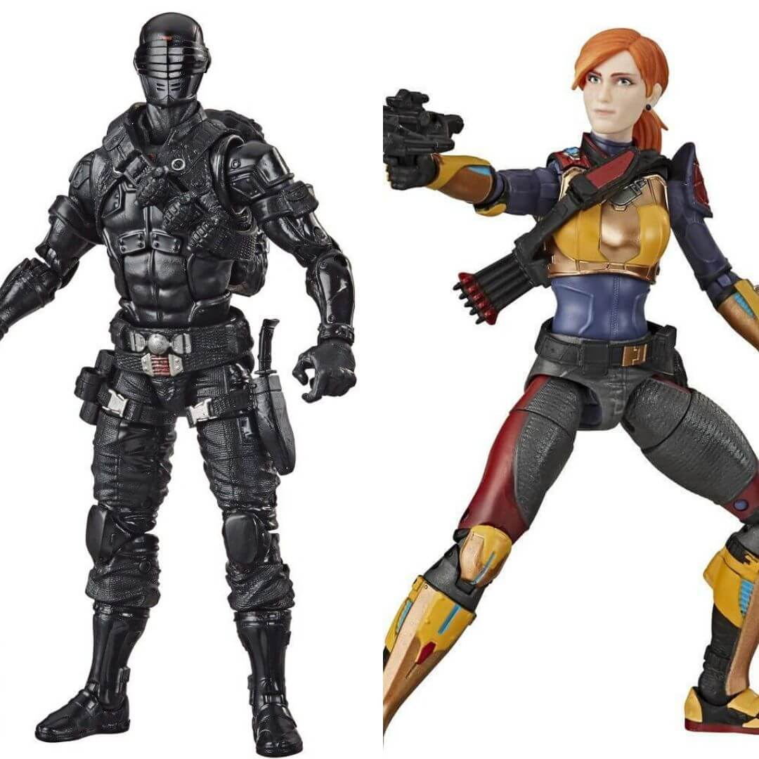 GI Joe Classified Series Snake Eyes & Scarlet 2 Pack by Hasbro -Hasbro - India - www.superherotoystore.com