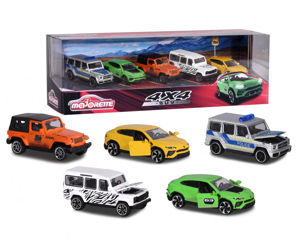 4 X $ SUV 5 Pack by Majorette