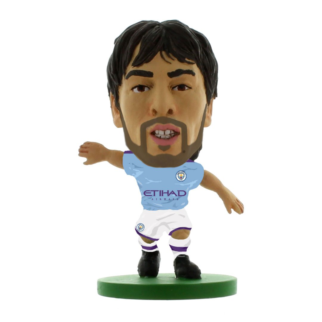 David Silva - Man City - Home Kit (2020 Version) Figure by Soccer Starz -Soccer Starz - India - www.superherotoystore.com
