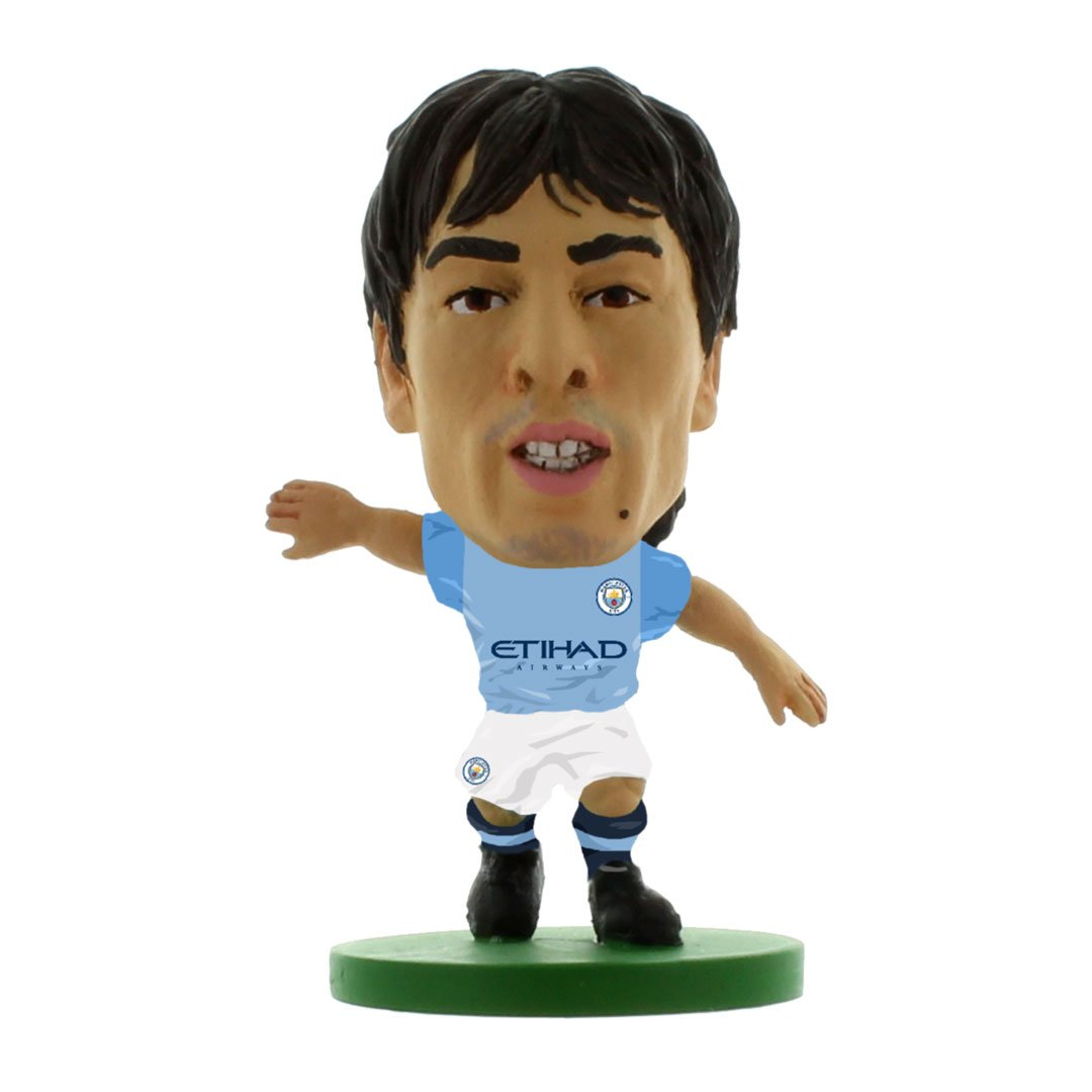 David Silva - Man City - Home Kit (2019 Version) Figure by Soccer Starz -Soccer Starz - India - www.superherotoystore.com