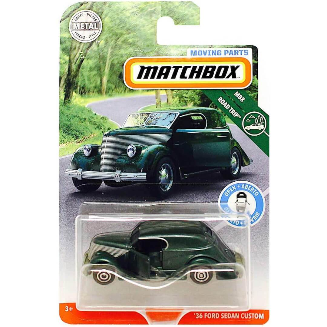 Moving Parts 1936 Ford Custom Sedan 1:64 Scale Die-Cast Car by Matchbox -Matchbox - India - www.superherotoystore.com