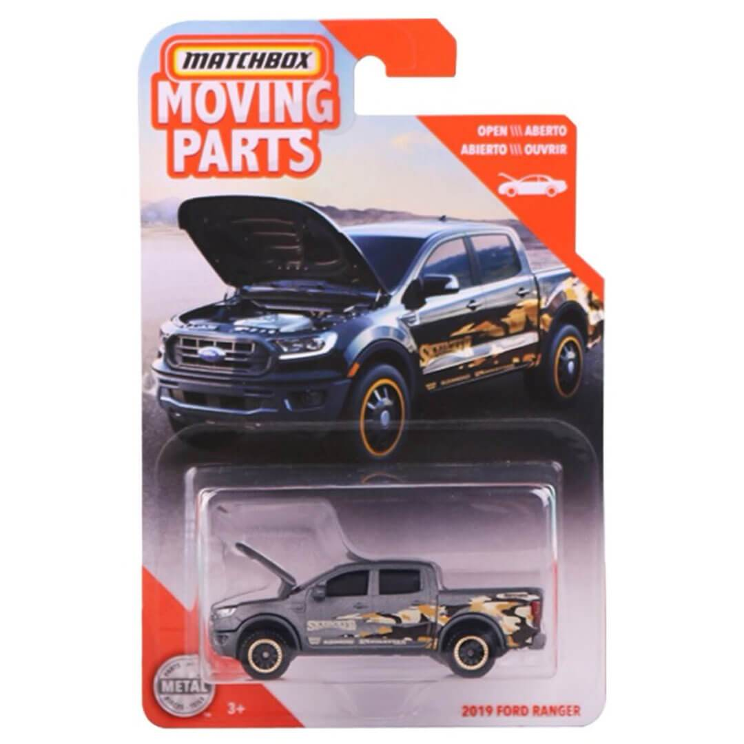 Moving Parts 2019 Ford Ranger 1:64 Scale Die-Cast Car by Matchbox -Matchbox - India - www.superherotoystore.com