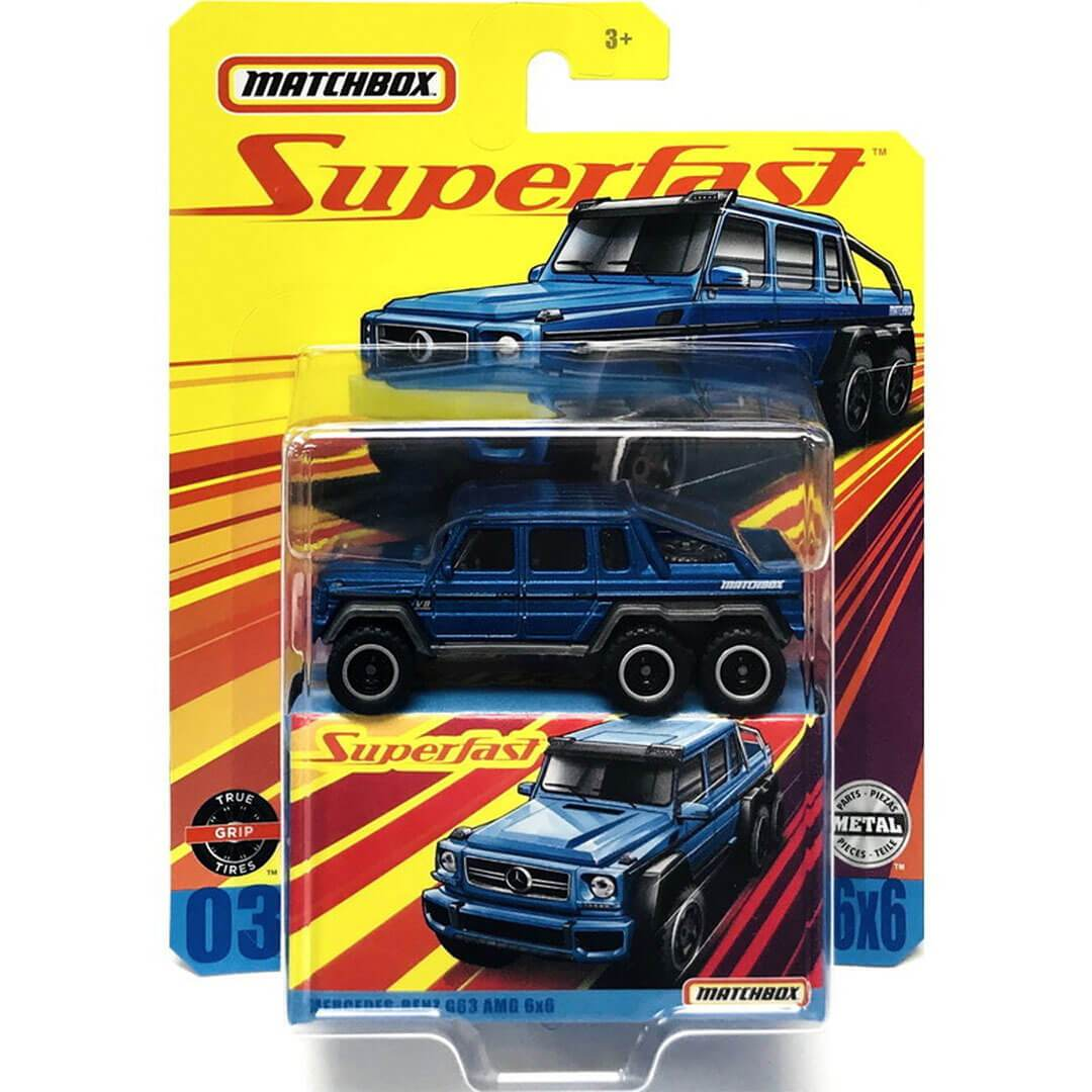 Superfast Mercedes Benz G63 AMG 6X6 1:64 Scale Die-Cast Car by Matchbox -Matchbox - India - www.superherotoystore.com