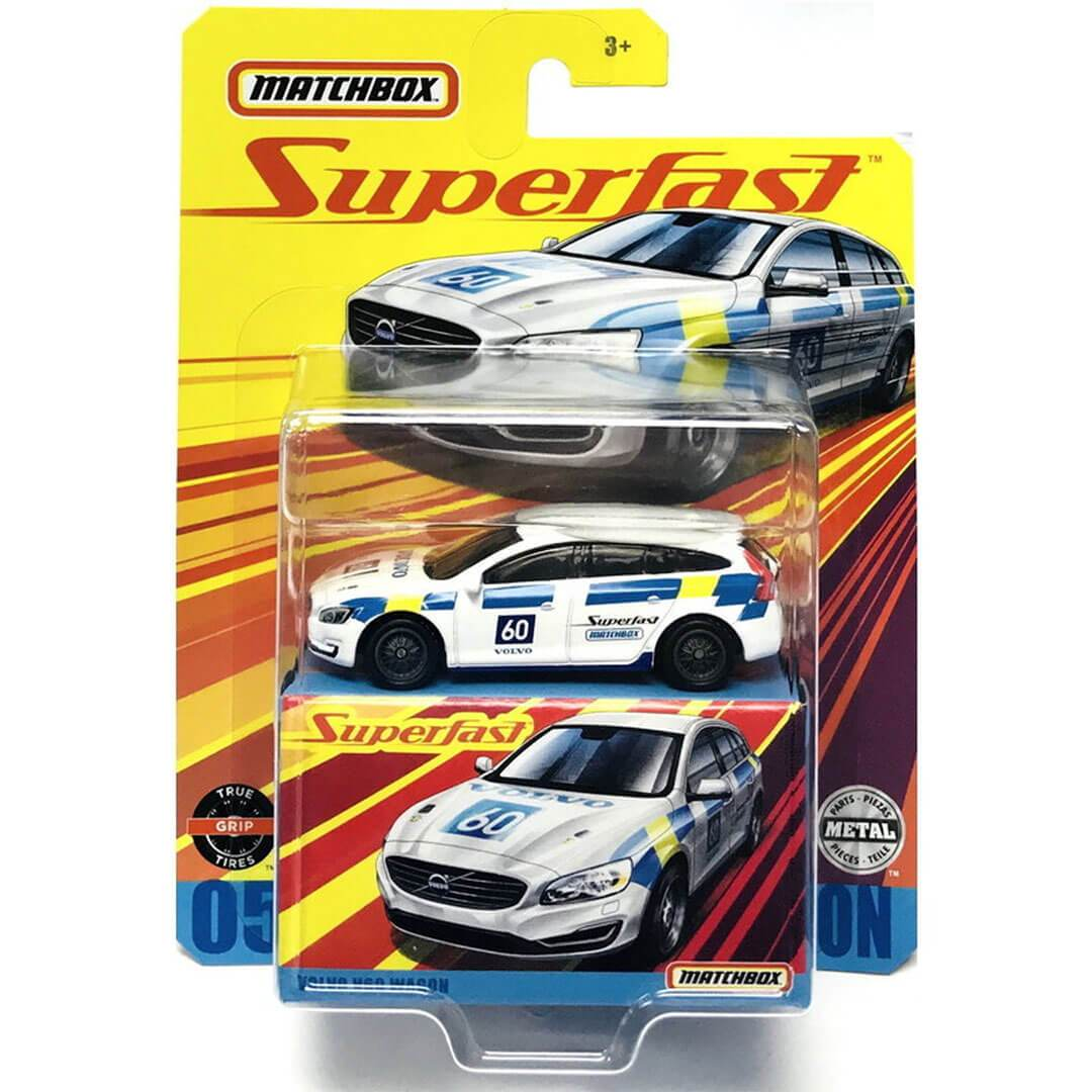 Superfast Volvo V60 Wagon 1:64 Scale Die-Cast Car by Matchbox -Matchbox - India - www.superherotoystore.com