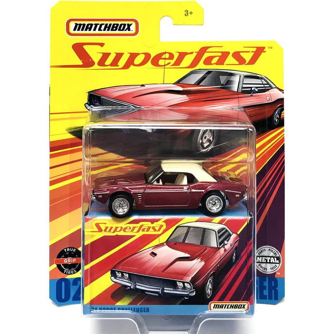 Superfast 1974 Dodge Challenger 1:64 Scale Die-Cast Car by Matchbox -Matchbox - India - www.superherotoystore.com