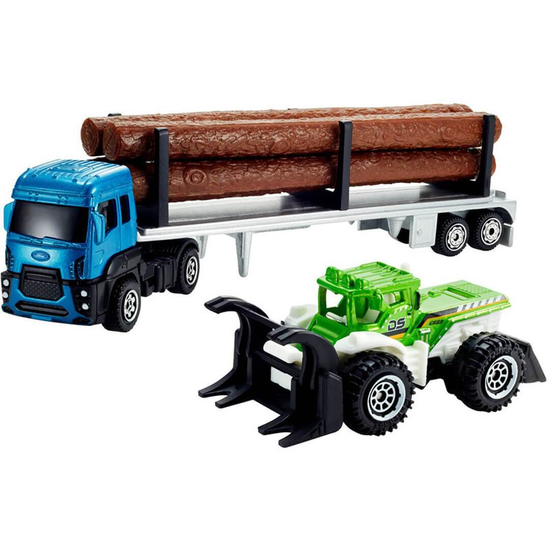 Ford Cargo & Logger Bed With Dirt Smasher 1:64 Scale Die-Cast Convoy by Matchbox -Matchbox - India - www.superherotoystore.com