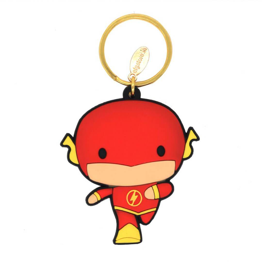 Justice League Flash Rubber Keychain by EFG -EFG - India - www.superherotoystore.com