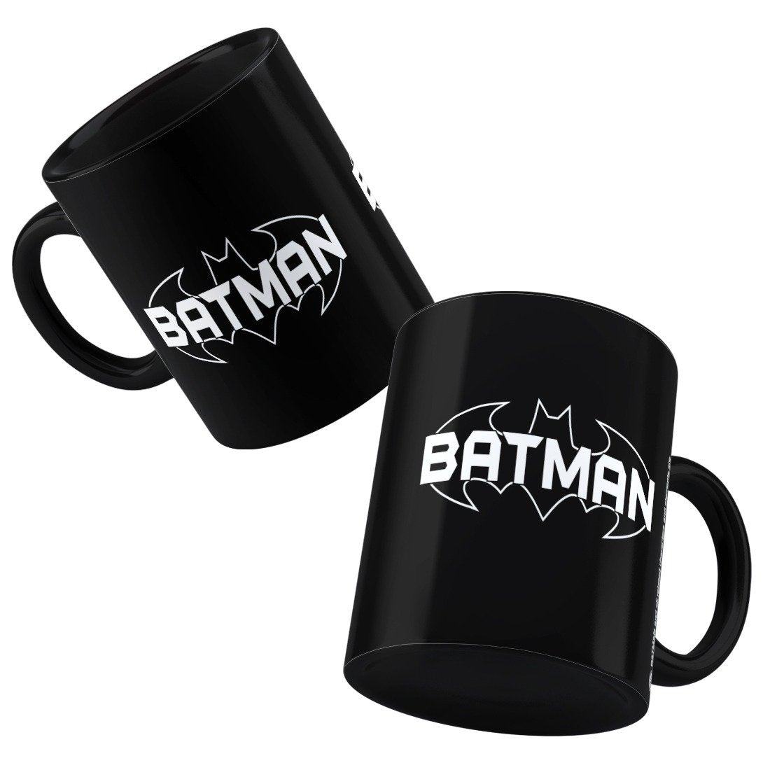 DC Comics Batman Text Black Mug