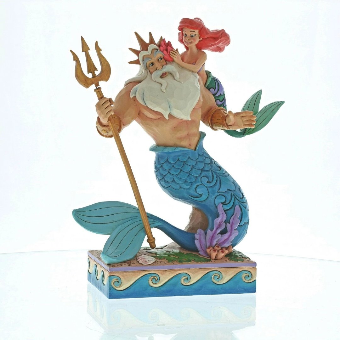 Disney Little Mermaid Ariel & Triton Figure by Enesco