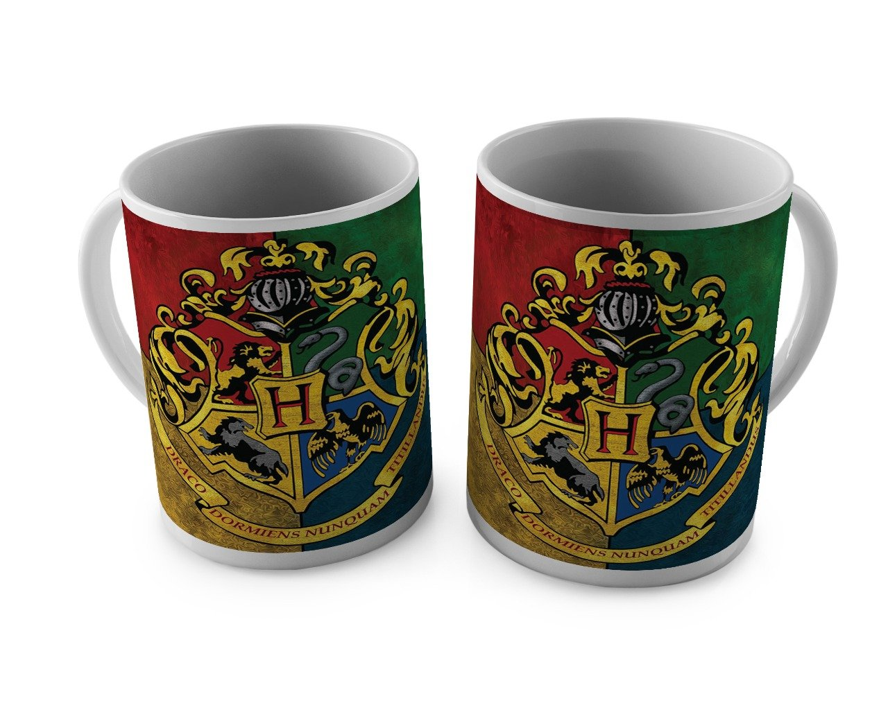Harry Potter Hogwards Crest White Mug -Happy Giftmart - India - www.superherotoystore.com