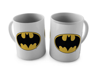 DC Comics Batman Classic Logo White Mug -Happy Giftmart - India - www.superherotoystore.com