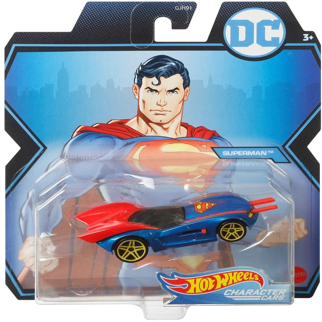 DC Comics Character Cars: Superman 1:64 Scale Die-Cast Car by Hot Wheels -Hot Wheels - India - www.superherotoystore.com