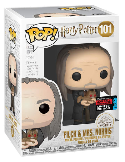 NYCC 2019 - Harry Potter Filch & Mrs Norris Yule Pop! Viyl Figure by Funko -Funko - India - www.superherotoystore.com