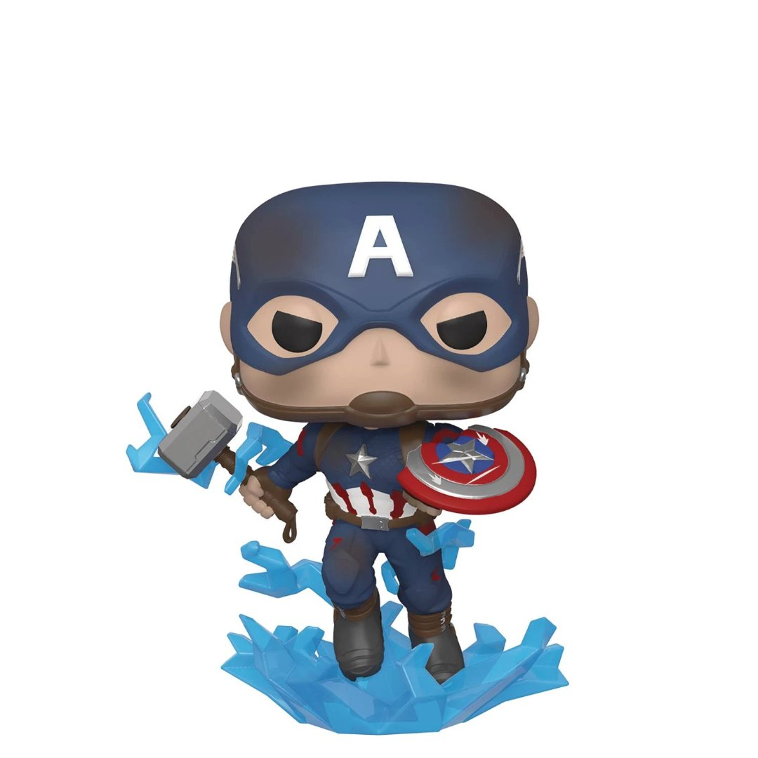 Avengers Endgame Captain America with Broken Shield Vinyl Bobble-Head by Funko