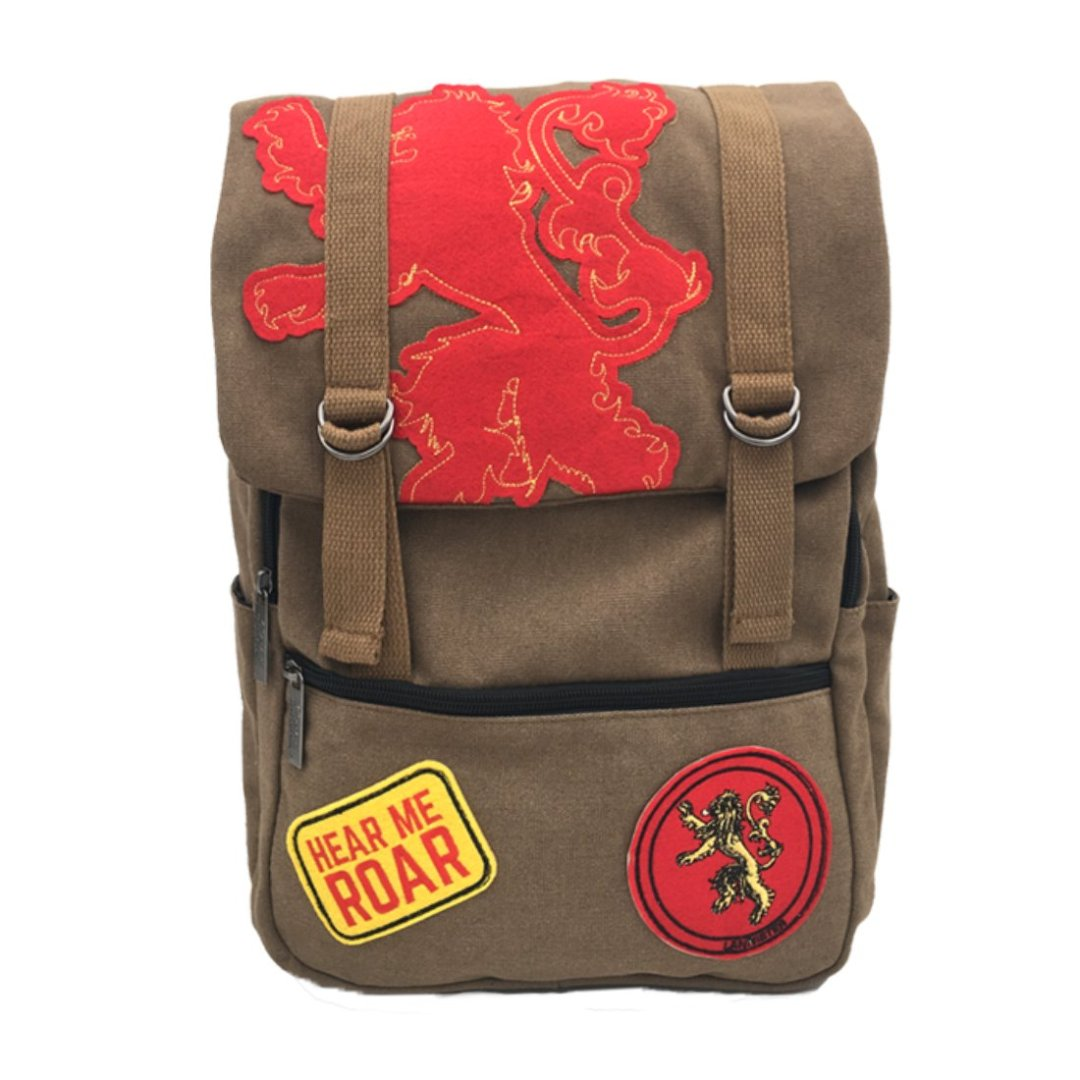 Lannister Hear Me Roar Game of Thrones Canvas Backpack -My Baby Excels - India - www.superherotoystore.com
