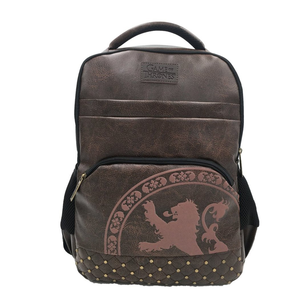 Game of Thrones House of Lannisters Leather Backpack -My Baby Excels - India - www.superherotoystore.com