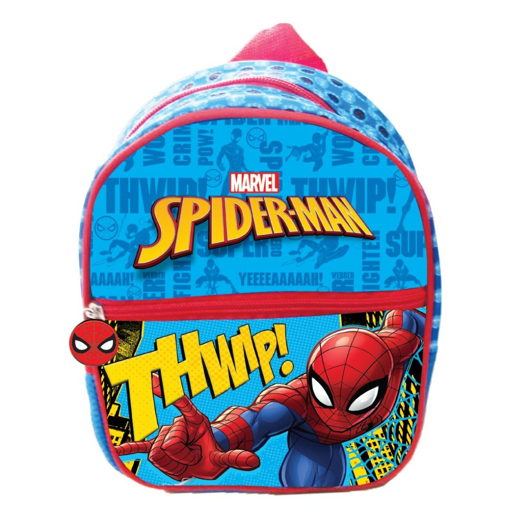 Spiderman Red & Blue Backpack -My Baby Excels - India - www.superherotoystore.com