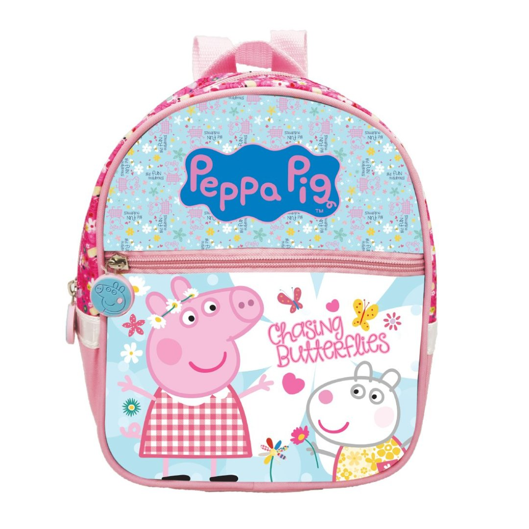 Peppa Pig chasing Butterflies Backpack -My Baby Excels - India - www.superherotoystore.com